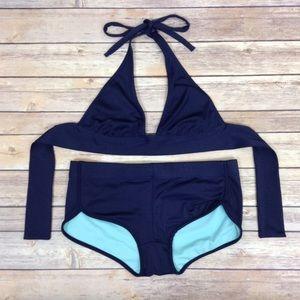 J. Crew Banded Halter Hipster Bikini Swim Suit Set